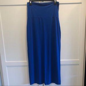 Gap Foldover Knit Maxi Skirt Royal Blue